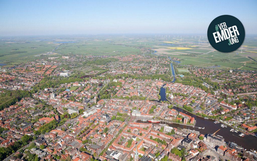 Luftbild von Emden
