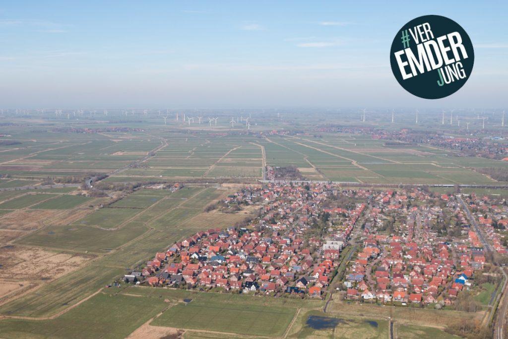 Luftaufnahme des Stadtteils Conrebbersweg und der Flächen, die für ein Neubaugebiet angedacht sind